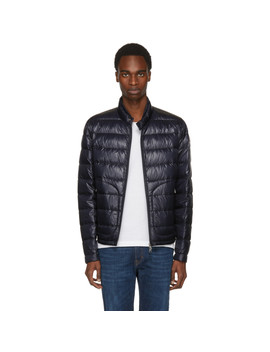 Navy Down Acorus Jacket by Moncler