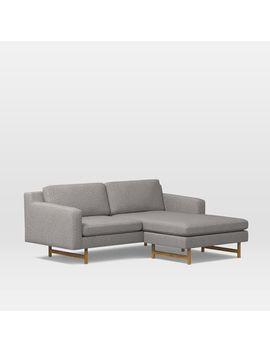 Eddy Flip Sectional, Feather Gray, Deco Weave by West Elm