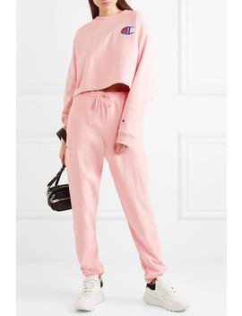 + Champion Allyson Appliquéd Cotton Blend Jersey Track Pants by Kith