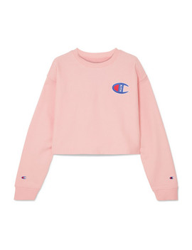 + Champion Brianna Oversized Cropped Appliquéd Cotton Blend Jersey Sweatshirt by Kith