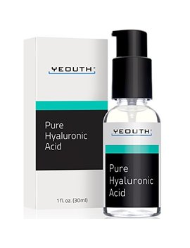 Hyaluronic Acid Serum For Face By Yeouth   100 Percents Pure Clinical Strength Anti Aging Formula! Holds 1,000 Times Its Own Weight In Water, Plumps And Hydrates Skin, Reduces... by Yeouth