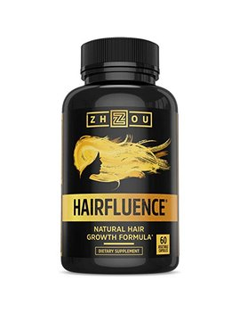 Hairfluence   Hair Growth Formula For Longer, Stronger, Healthier Hair   Scientifically Formulated With Biotin, Keratin, Bamboo & More!   For All Hair Types   Veggie... by Zhou Nutrition