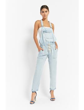 Chambray Drawstring Overalls by Forever 21