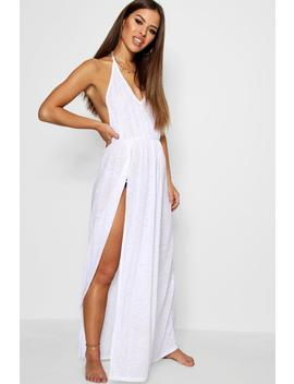 Petite Alison Maxi Beach Cover Up Dress by Boohoo