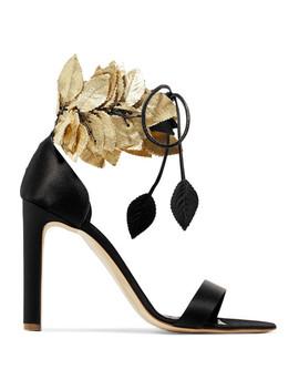 Eden Embellished Satin Sandals by Rupert Sanderson
