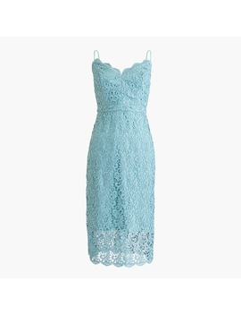 Spaghetti Strap Dress In Guipure Lace by J.Crew
