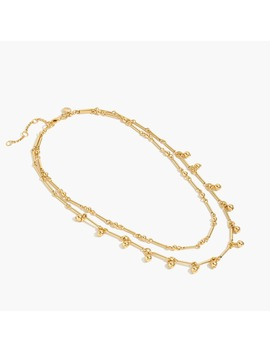 Gold Double Strand Necklace by J.Crew