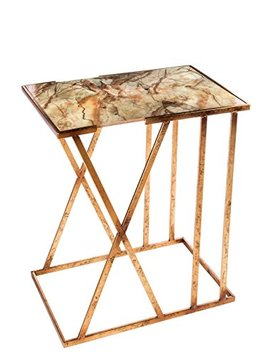 Statements By J Karla Side Table, Gold/White by Statements By J