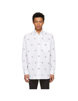 White All Over Medusa Shirt by Versace