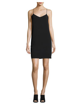 V Neck Camisole Dress, Black by Vince