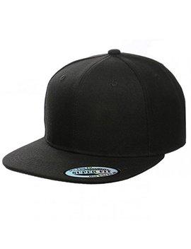 Blank Adjustable Flat Bill Plain Snapback Hats Caps (All Colors) by Cap911
