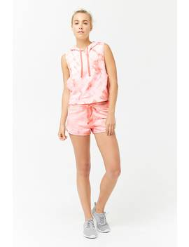 Active Tie Dye Shorts by Forever 21