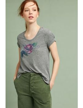 Giuliana Rolled Cuff Graphic Tee by Anthropologie