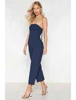 Going Down Town Strapless Jumpsuit by Nasty Gal