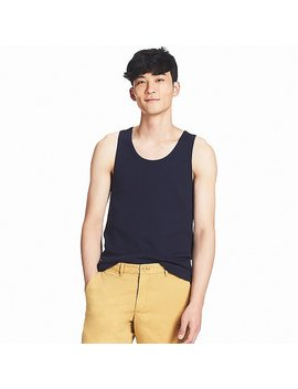 Men Packaged Dry Rib Tank Top by Uniqlo