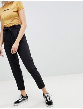 Pull&Bear Paper Bag Waist Relaxed Trousers by Pull&Bear