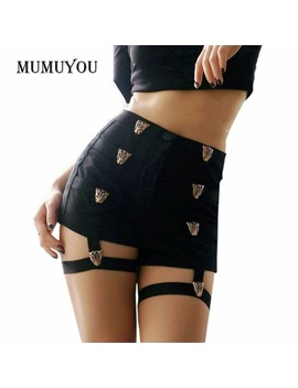Sexy Ladies Shorts High Waist Punk Rock Bandage Hollow Out Dance Show Party Club Hot Short Pants 200 955 by Big Black