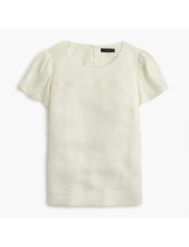 Petite Hammered Silk Blend Top by J.Crew