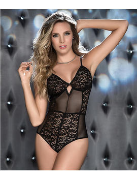 Lace And Mesh Wireless Teddy by Mapalé