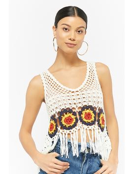 Fringe Crochet Crop Top by Forever 21