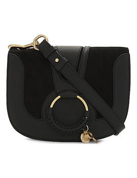 Hoop Leather Saddle Bag by See By Chloe