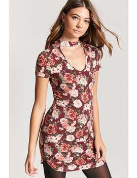 floral-v-cutout-t-shirt-dress by forever-21