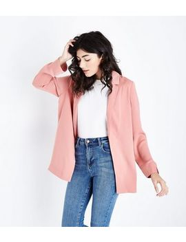 Pink Crepe Blazer by New Look