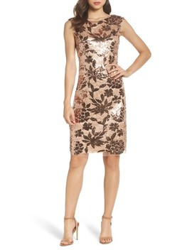 Sequin Body Con Dress by Vince Camuto