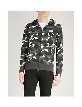 Shark Head Print Cotton Jersey Hoody by A Bathing Ape