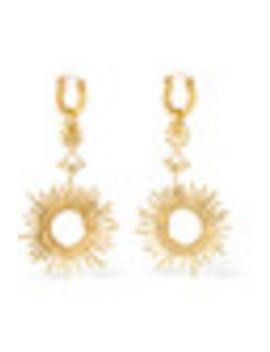 Strangerland Gold Plated Hoop Earrings by Ellery
