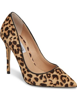 Daisie Genuine Calf Hair Pointy Toe Pump by Steve Madden