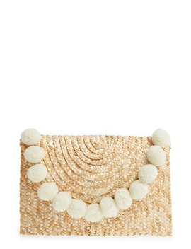 Fortuna Straw Clutch by Shiraleah