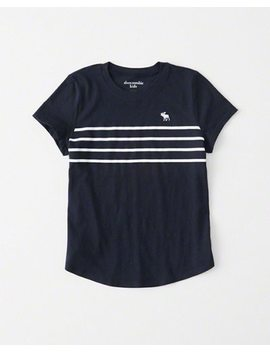 Stripe Icon Crew Tee by Abercrombie & Fitch