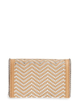 Woven Faux Leather Clutch by Chelsea28