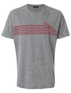 logo-print-t-shirt by diesel