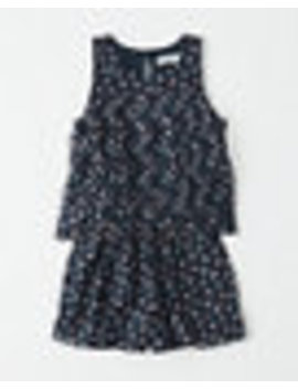 Pleated Chiffon Sleeveless Romper by Abercrombie & Fitch