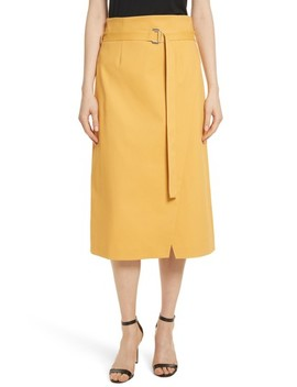 Belted Midi Skirt by Robert Rodriguez
