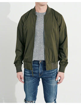 Stretch Bomber Jacket by Hollister