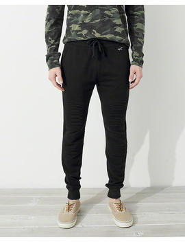 Moto Terry Super Skinny Jogger Pants by Hollister