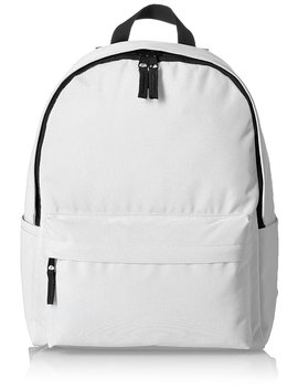 Amazonbasics Classic Backpack   White by Amazon Basics