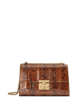 Medium Padlock   Elaphe Genuine Snakeskin Shoulder Bag by Gucci