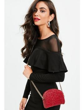 Red Glitter Mini Cross Body Bag by Missguided