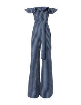 Edria Striped Denim Jumpsuit by Alexis