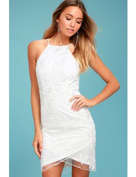In The Moment White Embroidered Dress by Lulus