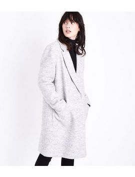 Grey Pocket Front Car Coat by New Look
