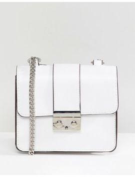 Bershka Chain Strap Mini Satchel Bag In White by Bershka