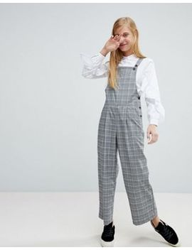 Monki Check Tailored Dungarees by Monki