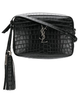 Mock Croc Cross Body Bag by Saint Laurent