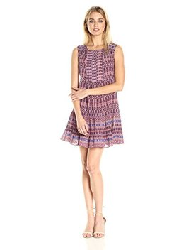 Bcbgmaxazria Bcbg Max Azria Women's Yulissa Sleeveless Ruffled Button Detail Woven City Dress by Bcbgmaxazria