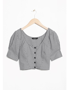 Gingham Crop Blouse by & Other Stories